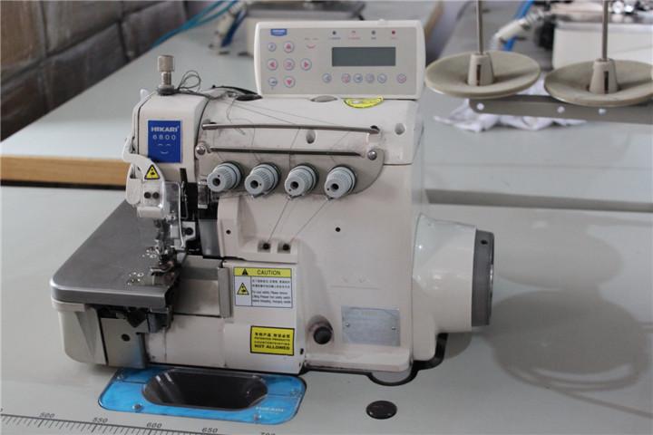 富山缝纫机不用脚踩的缝纫机-富山电脑智能包缝机HX6814T
