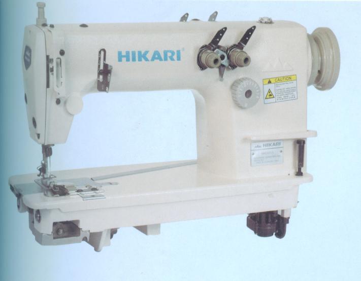 富山缝纫机高速双针双链链条缝纫机HH380A